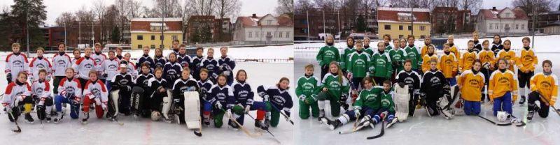 P15 jääpalloilijat Training Campilla Mikkelissä